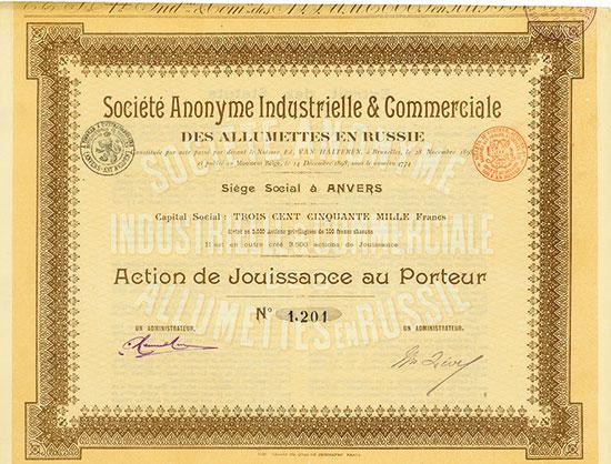 Société Anonyme Industrielle & Commerciale des Allumettes en Russie