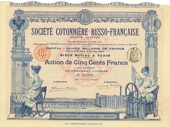 Société Cotonniére Russo-Française Société Anonyme [2 Stück]