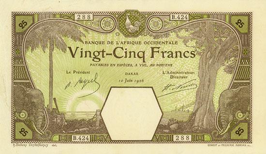 French West Africa - Banque de l'Afrique Occidentale - Pick 7Bc