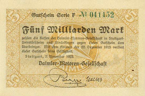 Germany - Notgeld - Daimler-Motoren-Gesellschaft