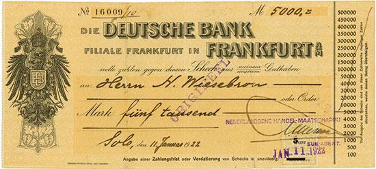 Schecks Deutschland [44 Stück]
