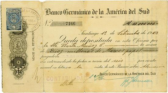 Schecks Süd- und Mittelamerika [11 Stück]