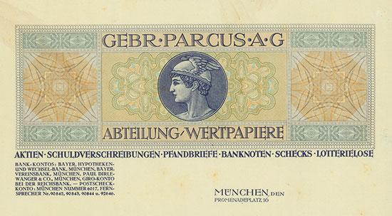 Gebr. Parcus AG Abteilung Wertpapiere