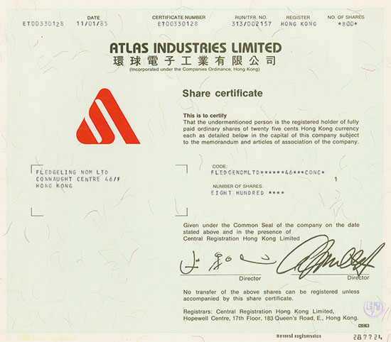 Atlas Industries Limited