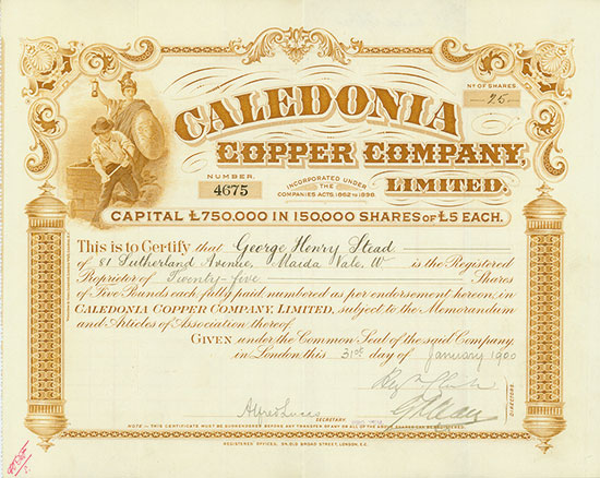 Caledonia Copper Company, Limited