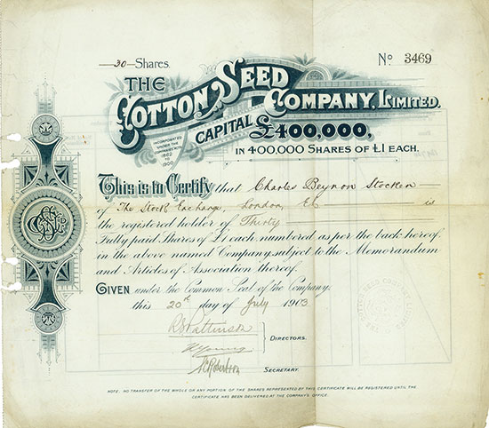 Cotton Seed Company, Limited
