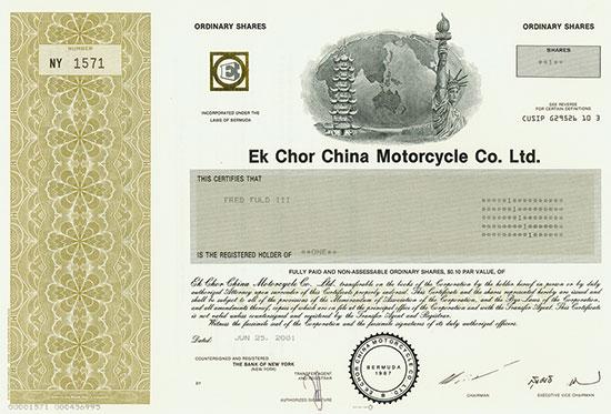 Ek Chor China Motorcycle Co. Ltd.