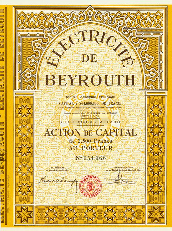 Électricité de Beyrouth Société Anonyme Française