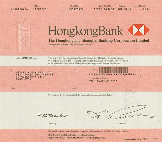 HongkongBank - The Hongkong and Shanghai Banking Corporation Limited
