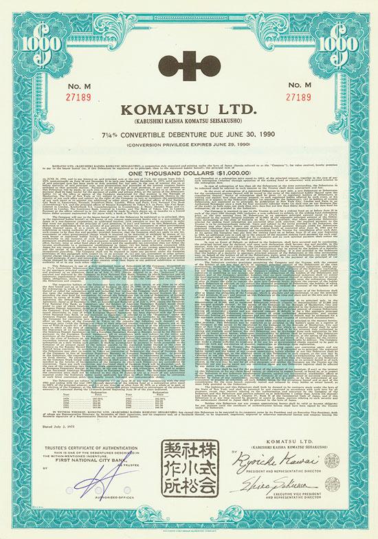 Komatsu Ltd. (Kabushiki Kaisha Komatsu Seisakusho)