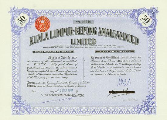 Kuala Lumpur-Kepong Amalgamated Limited