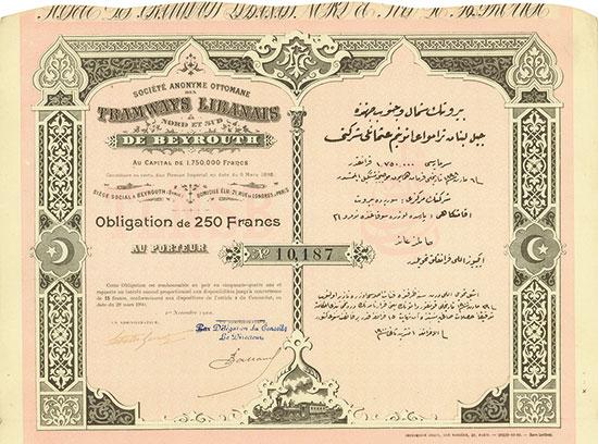 Société Anonyme Ottomane des Tramways Libanais Nord et Sud de Beyrouth