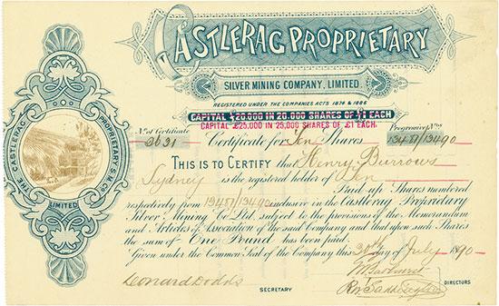 Castlerag Proprietary Silver Mining Company, Limited