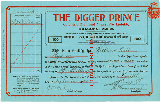 Digger Prince Gold an Diamond Mines