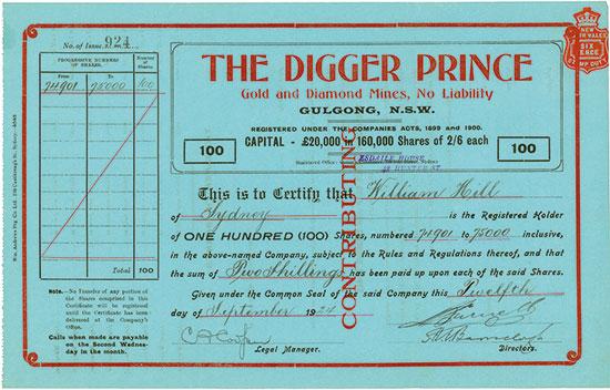 Digger Prince Gold an Diamond Mines