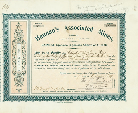 Hannan's Associated Mines, Limited