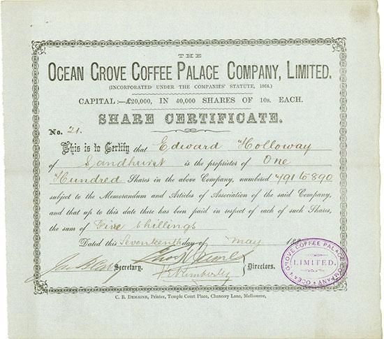 Ocean Grove Coffee Palace Company, Limited