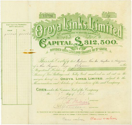 Oroya Links, Limited