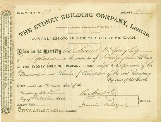 Sydney Building Company, Limited