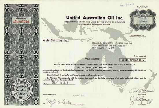 United Australian Oil Inc.