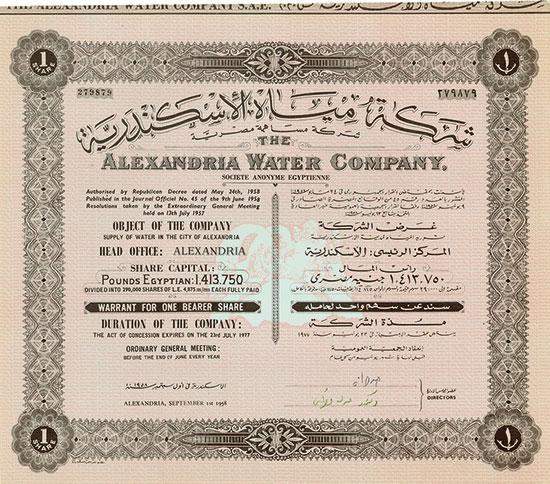 Alexandria Water Company, Societe Anonyme Egyptienne