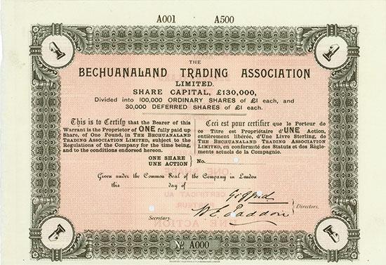 Bechuanaland Trading Association Limited