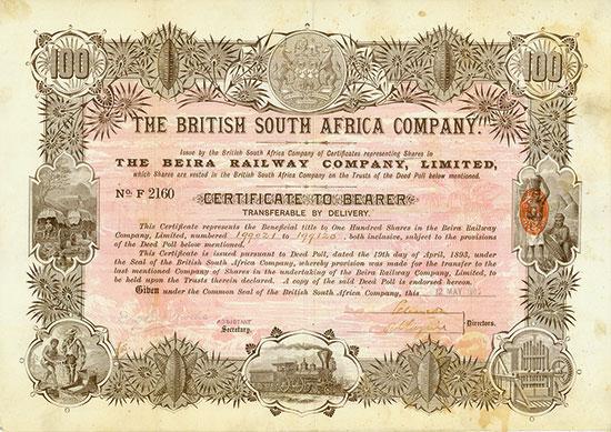 Beira Railway Company / British South Africa Company