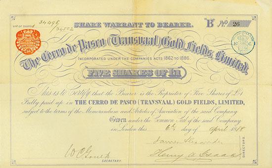 Cerro de Pasco (Transvaal) Gold Fields, Limited