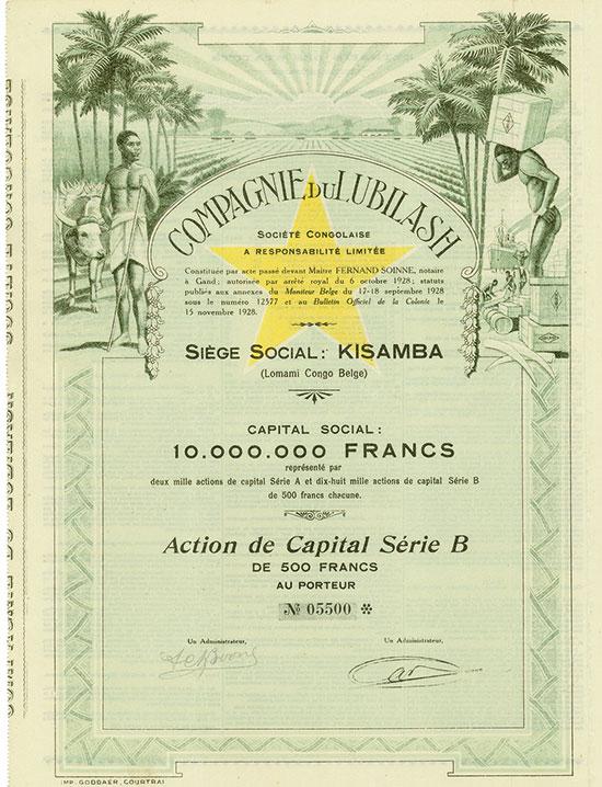 Compagnie du Lubilash Société Congolaise [2 Stück]