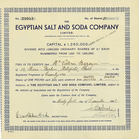 Egpytian Salt and Soda Company Limited