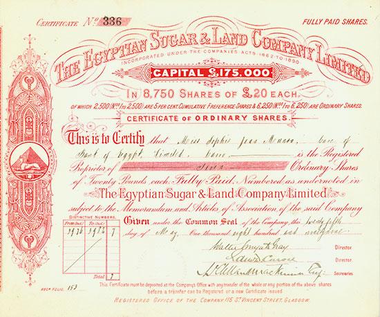 Egyptian Sugar & Land Company Limited