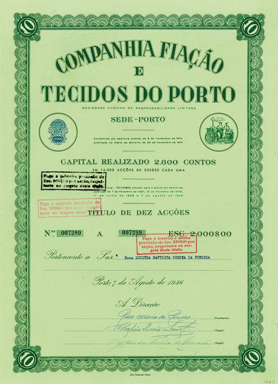 Companhia Fiação e Tecidos do Porto [4 Stück]