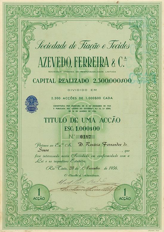 Sociedade de Fiação e Tecidos Azevedo, Ferreira & Ca.