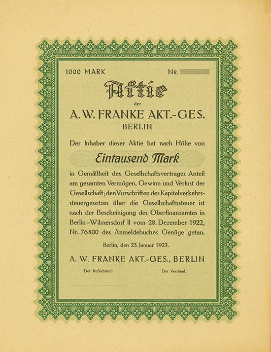 A. W. Franke AG