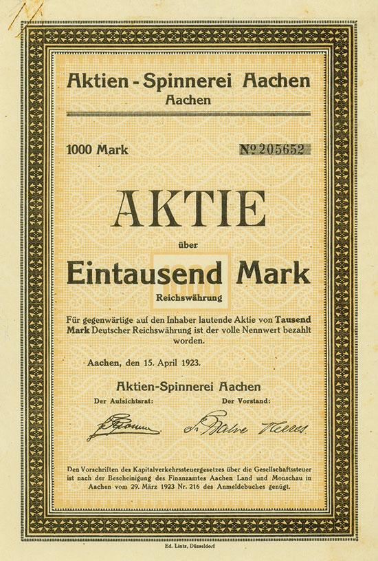 Aktien-Spinnerei Aachen