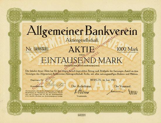 Allgemeiner Bankverein AG