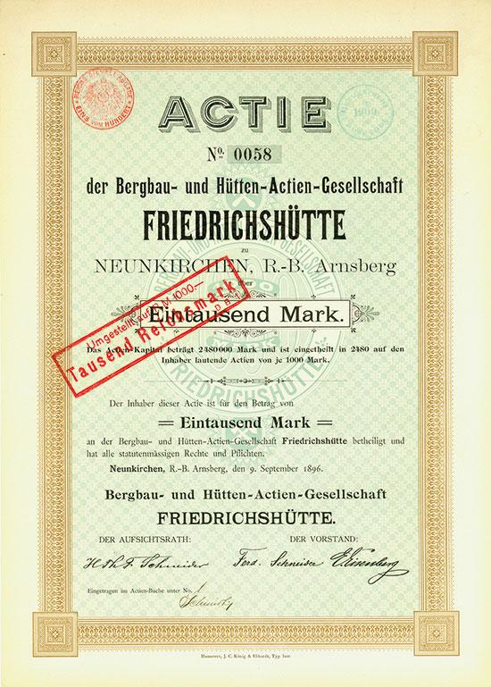 Bergbau- und Hütten-Actien-Gesellschaft FRIEDRICHSHÜTTE