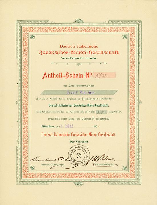 Deutsch-Italienische Quecksilber-Minen-Gesellschaft