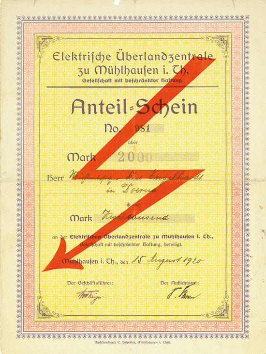 Elektrische Überlandzentrale zu Mühlhausen i. Th. GmbH