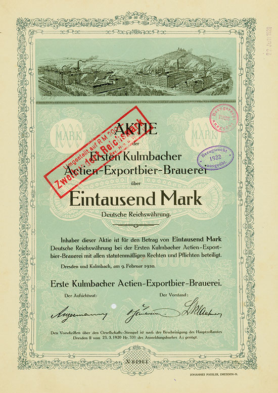 Erste Kulmbacher Actien-Exportbier-Brauerei