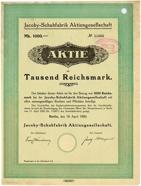 Jacoby-Schuhfabrik AG