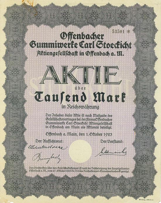 Offenbacher Gummiwerke Carl Stoeckicht AG