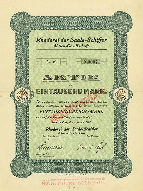 Rhederei der Saale-Schiffer-AG
