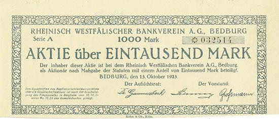 Rheinisch Westfälischer Bankverein AG