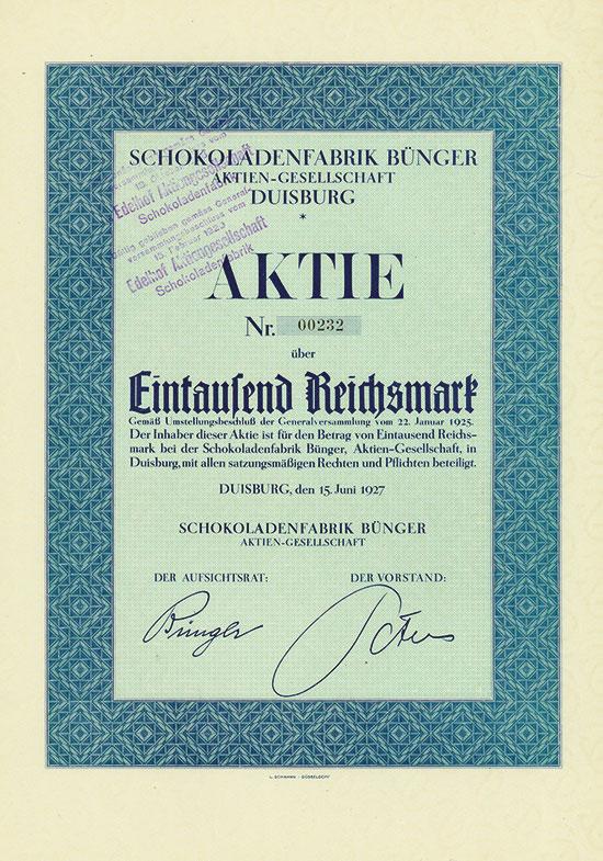Schokoladenfabrik Bünger AG