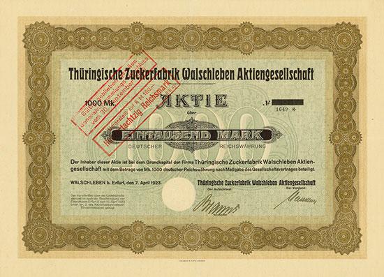 Thüringische Zuckerfabrik Walschleben AG