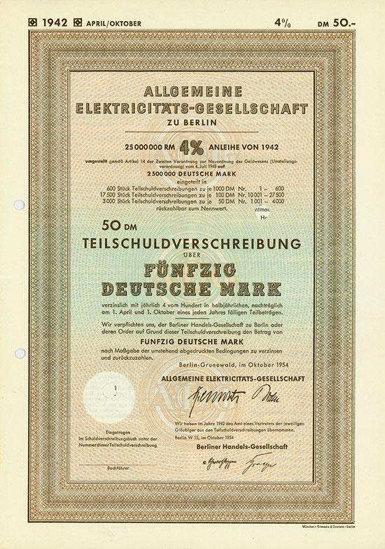 Allgemeine Elektricitäts-Gesellschaft [5 Stück]