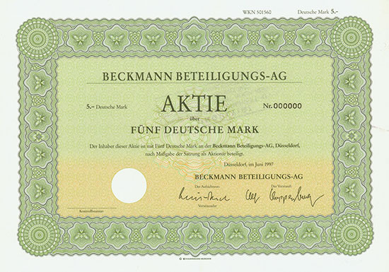 Beckmann Beteiligungs-AG