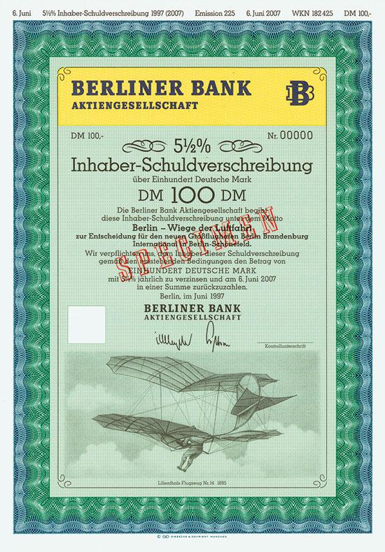 Berliner Bank AG [4 Stück]
