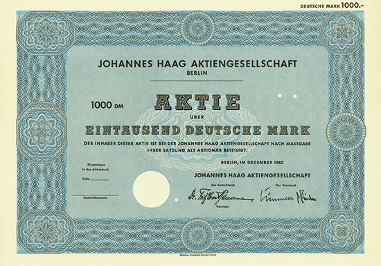 Johannes Haag AG